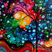 Abstract Landscape Colorful Contemporary Painting By Megan Duncanson Brilliance In The Sky Art Print by Megan Duncanson