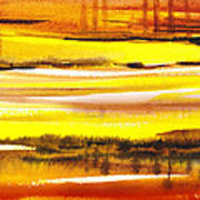 Abstract Landscape Found Reflections Art Print