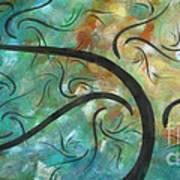 Abstract Landscape Painting Digital Texture Art By Megan Duncanson Art Print