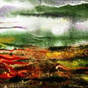 Abstract Landscape Sunrise Sunset Art Print