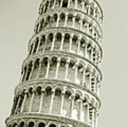 Abstract Leaning Tower Of Pisa Art Print