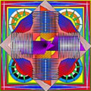 Abstract Mandala Art Print
