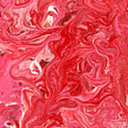Abstract - Nail Polish - My Ice Cream Melted Art Print by Mike Savad