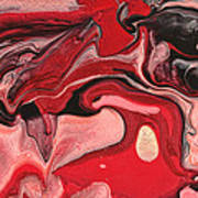 Abstract - Nail Polish - Raspberry Nebula Art Print by Mike Savad