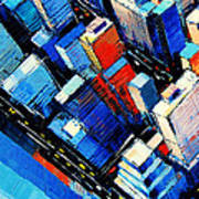 Abstract New York Sky View Art Print