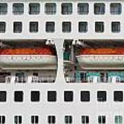 Abstract Of Lifeboats On A Large Cruise Ship Art Print