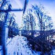 Abstract On A Ski Lift Art Print