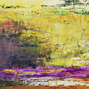 Abstract Painted Yellow Art Backgrounds Art Print