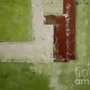 Abstract Painting Green 13013 Art Print