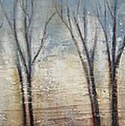 Abstract Painting Morning Fog Art Print