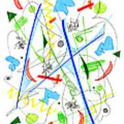 Abstract Pen Drawing Fifty-three Art Print