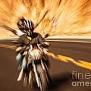 Abstract Photo Of Riders Art Print