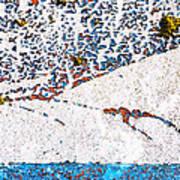 Abstract Snow Storm Art Print