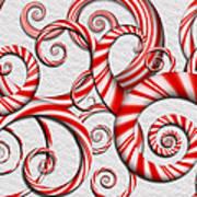 Abstract - Spirals - Peppermint Dreams Art Print