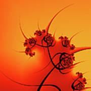 Abstract Sunset Fractal Art Print