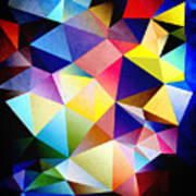 Abstract Triangles And Texture Art Print