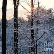 Abstract Winter Sunset Art Print