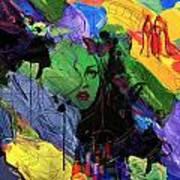 Abstract Women 014 Art Print