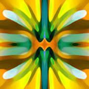 Abstract Yellowtree Symmetry Art Print by Amy Vangsgard
