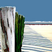 Abstracted Beach Dune Fence Art Print