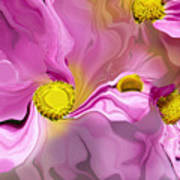 Abstracted Pink Art Print