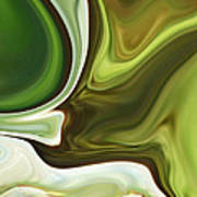 Abstraction With Emerald Orb Art Print