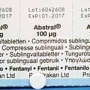 Abstral Painkiller Drug Art Print