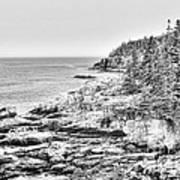 Acadia National Park In Bw Art Print