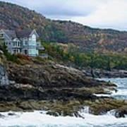 Acadia Seaside Mansion Art Print