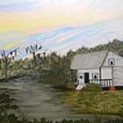 Acadian Home On The Bayou Art Print