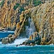 Acapulco Cliffs Art Print