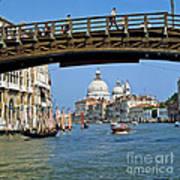 Accademia Bridge In Venice Italy Art Print