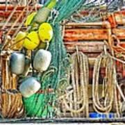 Accessories To Shrimp Catching Art Print