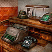 Accountant - Typewriter - The Accountants Office Art Print