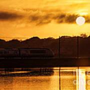 Acela Sunset Art Print