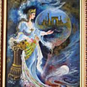 Achaemenian Lady Persian Miniature Painting  Art Print