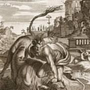 Achelous In The Shape Of A Bull Print by Bernard Picart