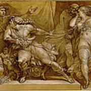 Achilles And Briseis Art Print