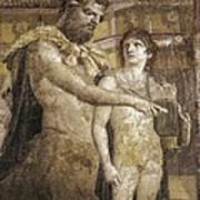 Achilles And Chiron. 45 - 79. Detail Art Print by Everett