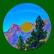 Acid Desert Orb 2 Art Print