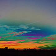 Acid Sky Art Print