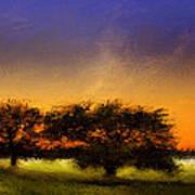 Acid Sunset Art Print