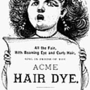 Acme Hair Dye Ad, C1890 Art Print