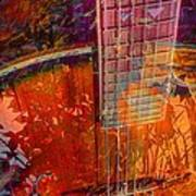 Acoustic Dreams Digital Guitar Art By Steven Langston Art Print by Steven Lebron Langston