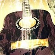 Acoustic Guitar - In The Studio Art Print