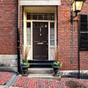 Acorn Street Door And Lamp Art Print
