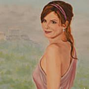 Acropolis  Misty Evening  Art Print