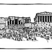 Acropolis Of Athens Print by Calvin Durham