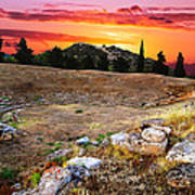 Acropolis Of Eretria  Art Print