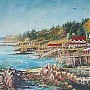 Across The Bridge Art Print by Joy Nichols